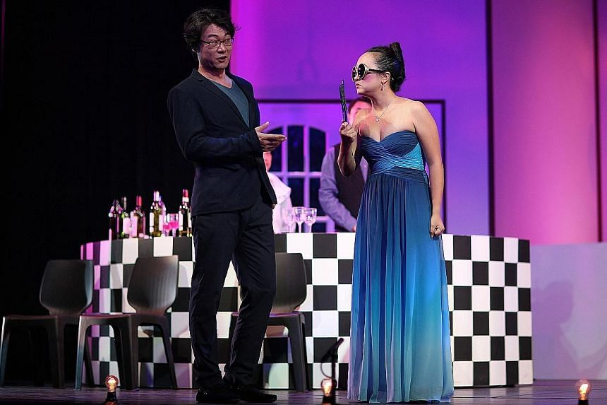New Opera Singapore's Die Fledermaus was staged in 2014 with a club- hopping, spangled, Asian vibe.