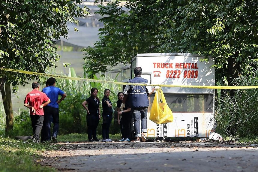 Ms Cui's decomposed remains were found in Lim Chu Kang (above) last Wednesday. Lianhe Zaobao reported that a man claiming to be Ms Cui's father solicited donations at a Chinatown food centre on Saturday.