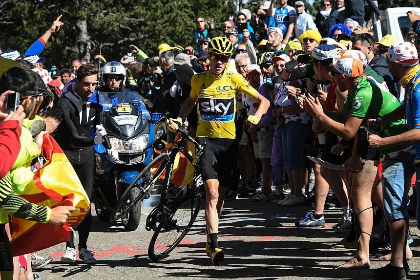 Froome also provided one for the memories with the iconic moment at this year's Tour de France. He had to run towards the finish line on foot at the 12th stage after his bicycle gave way following a crash.