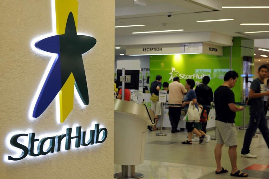 The logo of StarHub outside a retail outlet in Singapore, on Feb 3, 2012.
