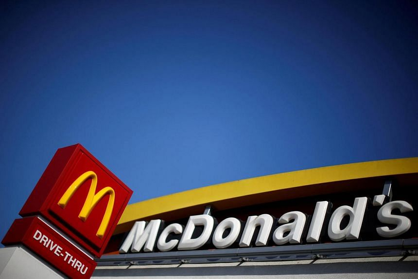 The logo of McDonald's seen in Los Angeles, US, on April 22.