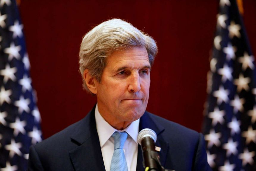 US Secretary of State John Kerry attends a news conference at the sidelines of the ASEAN foreign ministers meeting in Vientiane, Laos on July 26.