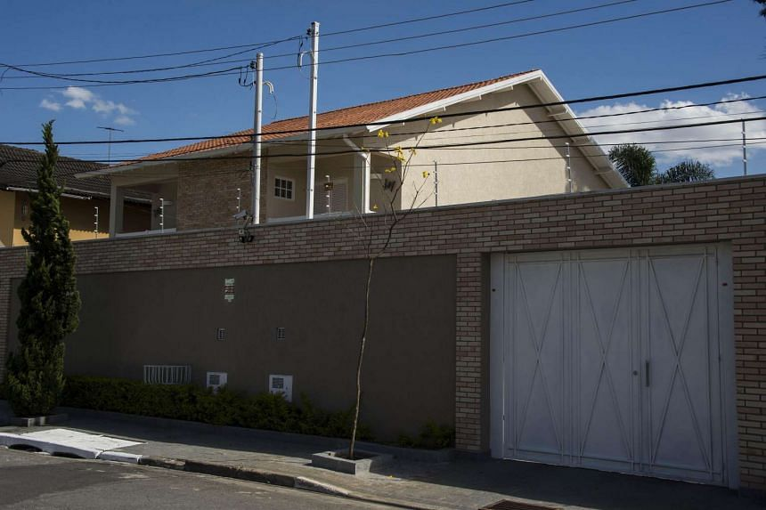 Picture of the house of Aparecida Schunck Flosi Palmeira, mother-in-law of Formula One boss Bernie Ecclestone, in Sao Paulo, Brazil, taken on July 26.