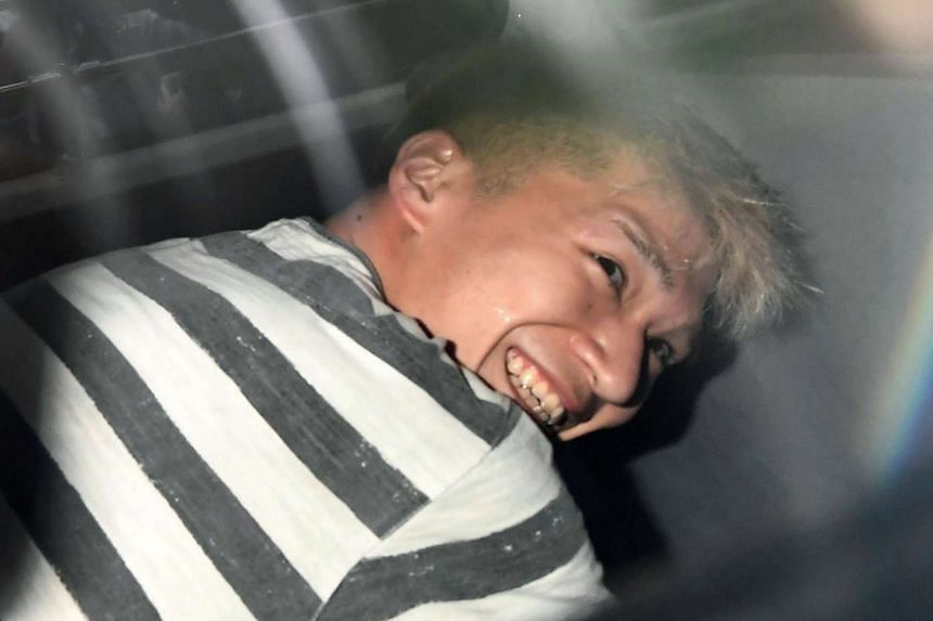 Satoshi Uematsu, suspected of a deadly attack at a facility for the disabled, is seen inside a police car as he is taken to prosecutors, at Tsukui police station in Sagamihara, Kanagawa prefecture, Japan on July 27.