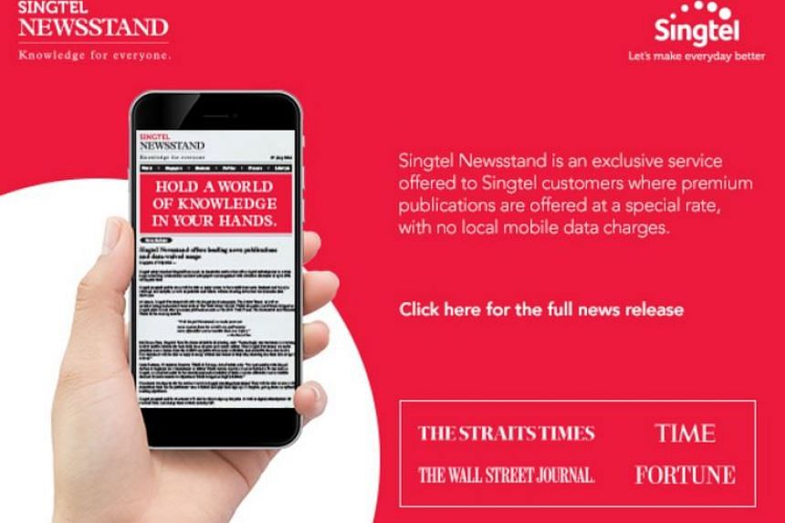 Singtel has launched a new digital news service called Newsstand offering discounted subscriptions to a wide range of newspapers and magazines.