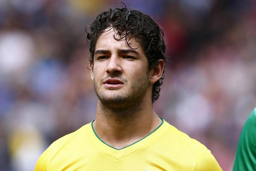 Alexandre Pato at Old Trafford Stadium in Manchester during the Men's Olympic Football Tournament in 2012.