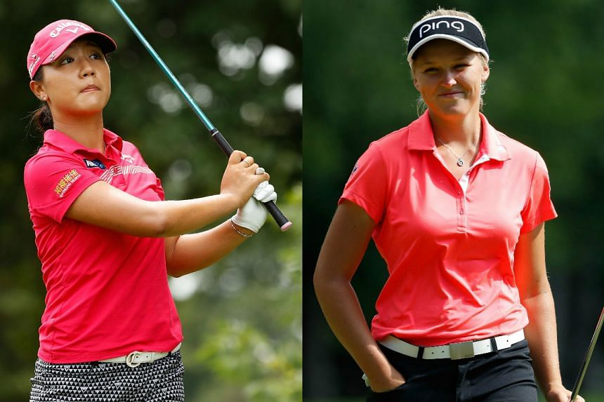 Lydia Ko (left) and Brooke Hendersen are set to go into the British Open for another head-to-head battle.