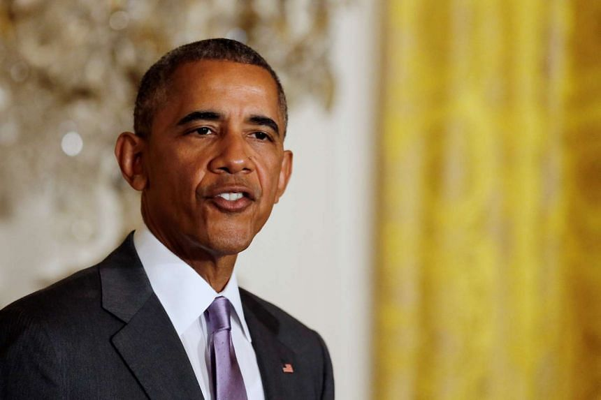 US President Barack Obama delivers remarks at an Eid al-Fitr reception at the White House in Washington on July 21.