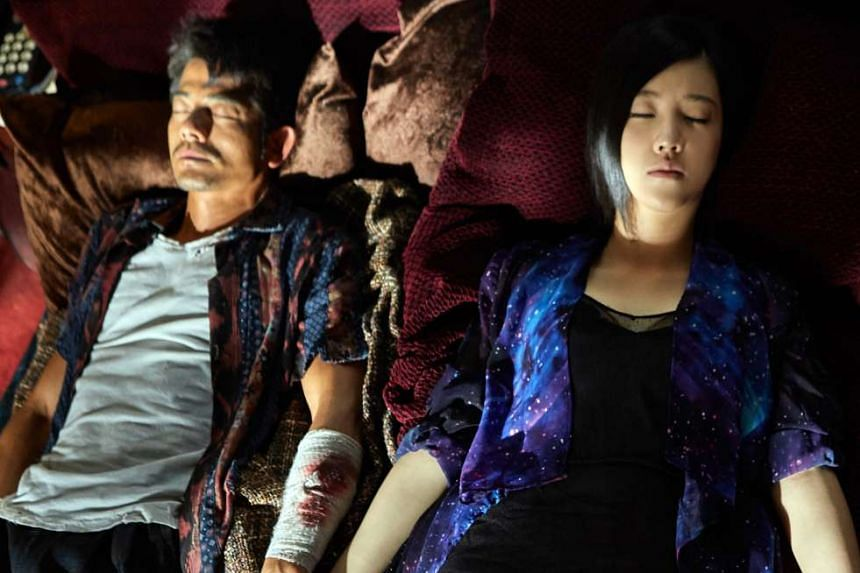 Aaron Kwok and Yang Zishan (both above) play characters that are not persuasively drawn.