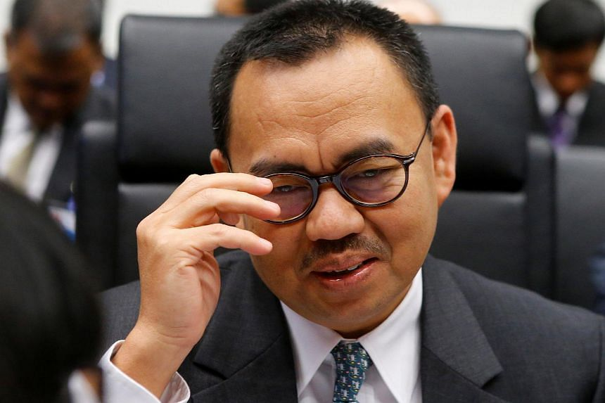 Indonesia's energy and mining minister Sudirman Said talks to journalists during a meeting of OPEC oil ministers in Vienna, Austria.
