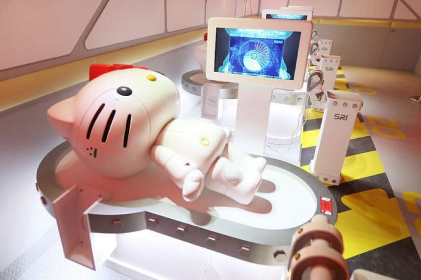 The Robot K figurine for sale at the Robot Kitty Singapore exhibition at the Suntec Singapore Convention & Exhibition Centre.