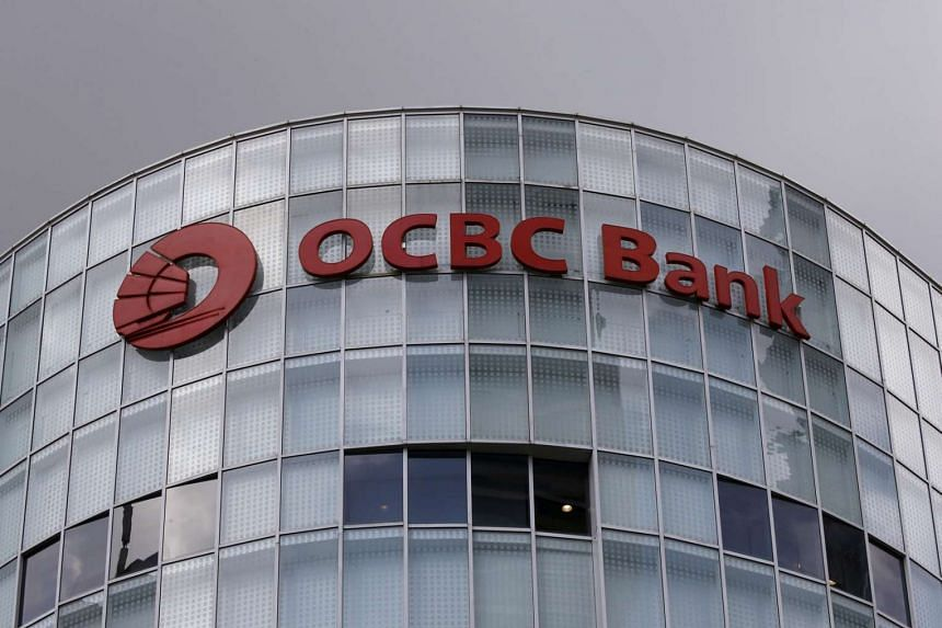 A view of an Oversea-Chinese Banking Corporation signage at their premises in Singapore on January 12.