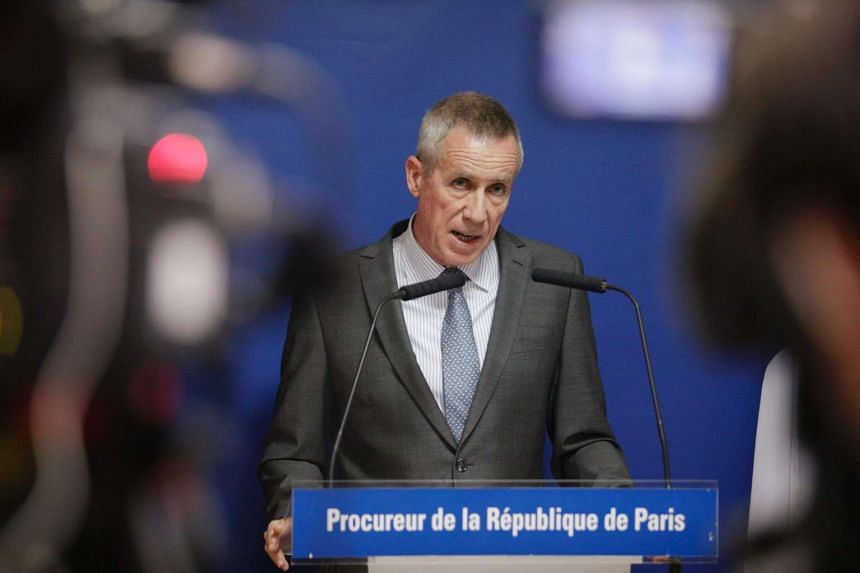 French public prosecutor at a press conference on July 26, at the Paris courthouse, after a priest was killed in Saint-Etienne-du-Rouvray in the latest of a string of attacks against Western targets. One of two jihadists who attacked a church and sli