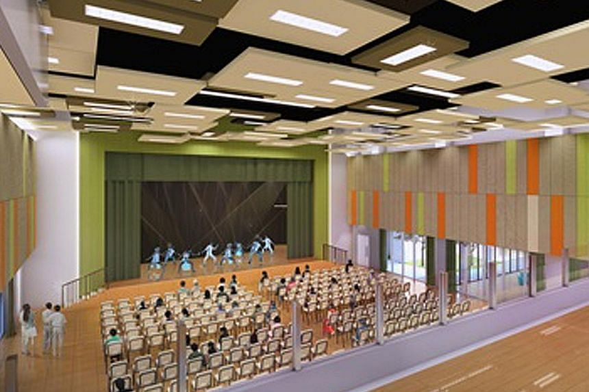 From top: The renovated structure will boast a new facade, a larger multi-purpose hall to fit in more guests during events, and a new garden to lend extra room for outdoor activities. The Teck Ghee Community Club is one of the older CCs in Singapore.