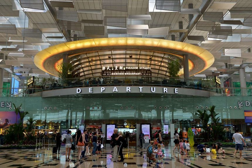 The departure hall at Changi Airport's Terminal 3.