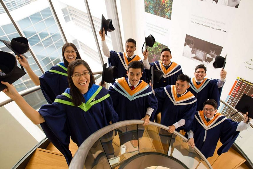 (From left) Wong Jyun Yir and Jyun Yao from Civil Engineering; Alphonsus and Alphonso Seng; Liu Zongsheng and Zongli; and Loh Yun Xuan and Yun Xian from Nanyang Business School. The other four pairs of twins are not pictured.