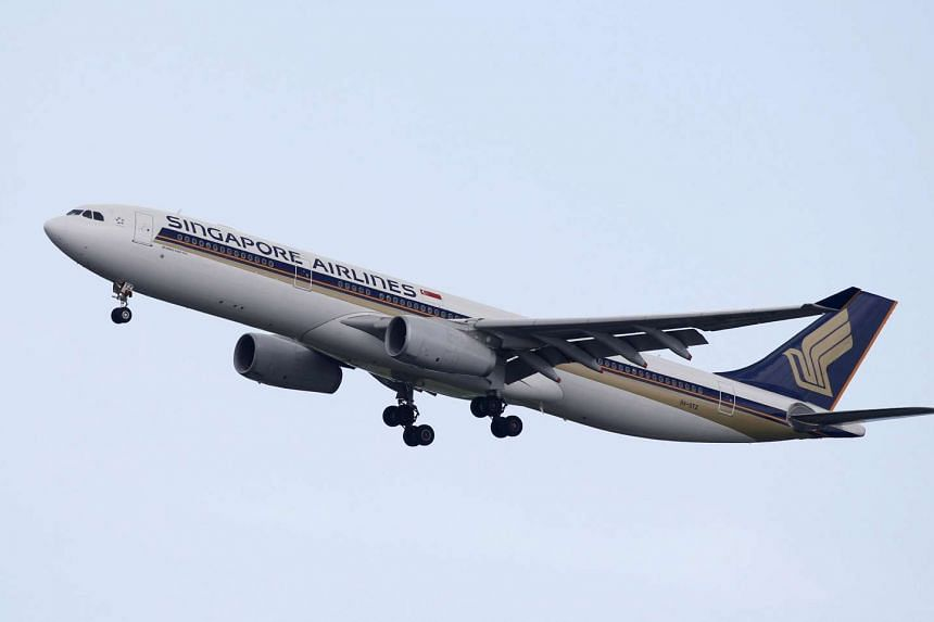 A Singapore Airlines Airbus A330 plane approaches Singapore's Changi Airport on January 5.