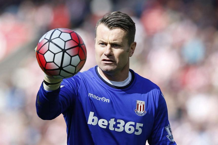 Shay Given during the Stoke City vs West Ham United Barclays Premier League match at The Britannia Stadium on May 15.