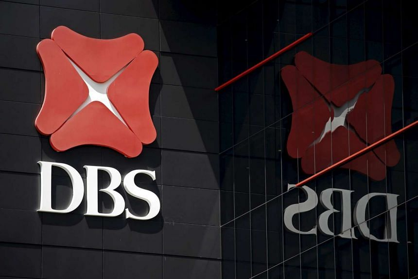 The logo of DBS is pictured outside an office in Singapore on Jan 5.
