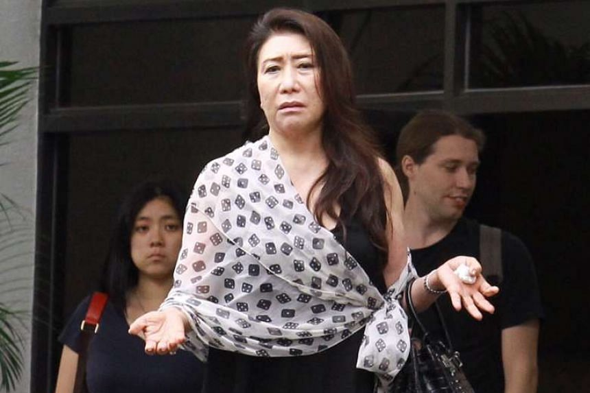 This photo taken in June 2016 shows Shi Ka Yee leaving the courthouse.