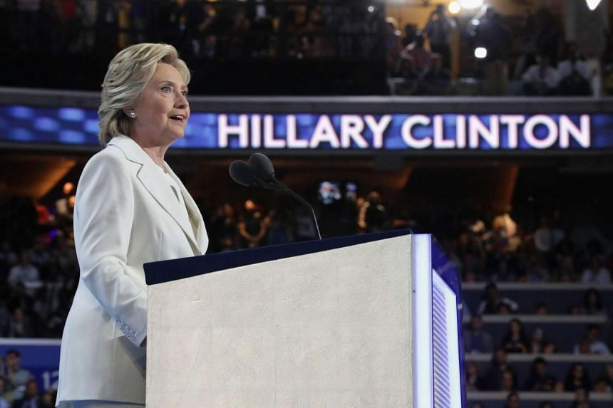 Democratic presidential candidate Hillary Clinton delivering remarks during the fourth day of the Democratic National Convention at the Wells Fargo Center, July 28 in Philadelphia, Pennsylvania.