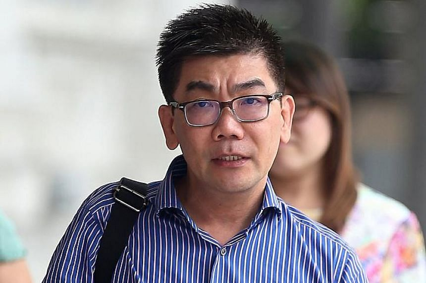Tan arriving at the State Courts yesterday for sentencing, after his conviction last month for drugging and molesting his 33-year-old patient, a Malaysian doctor. Tan had also taken more than 20 photographs which grossly invaded the victim's privacy.