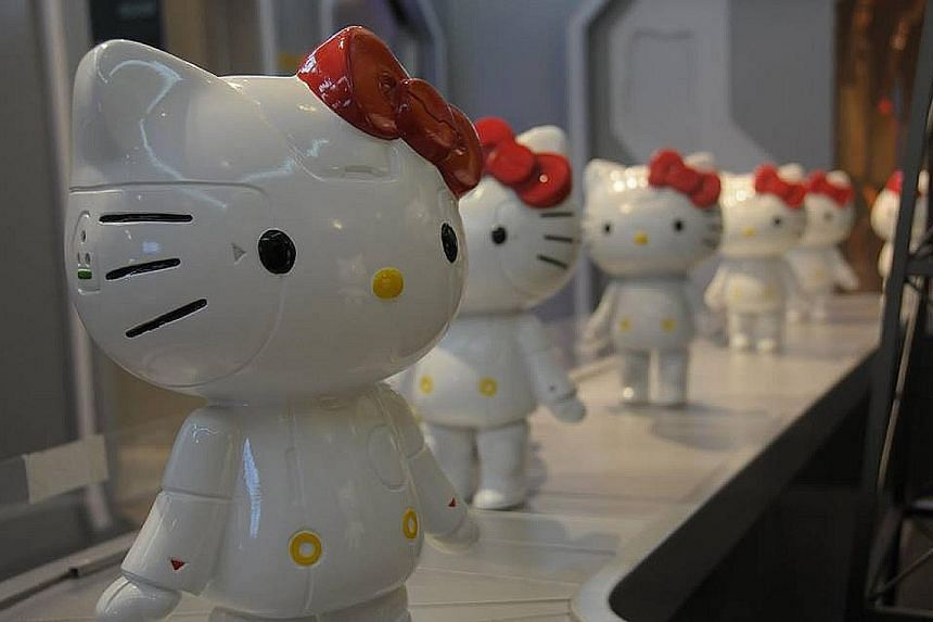 The Robot K figurine was one of the highlights at the Robot Kitty exhibition held last month at Suntec Singapore Convention and Exhibition Centre.