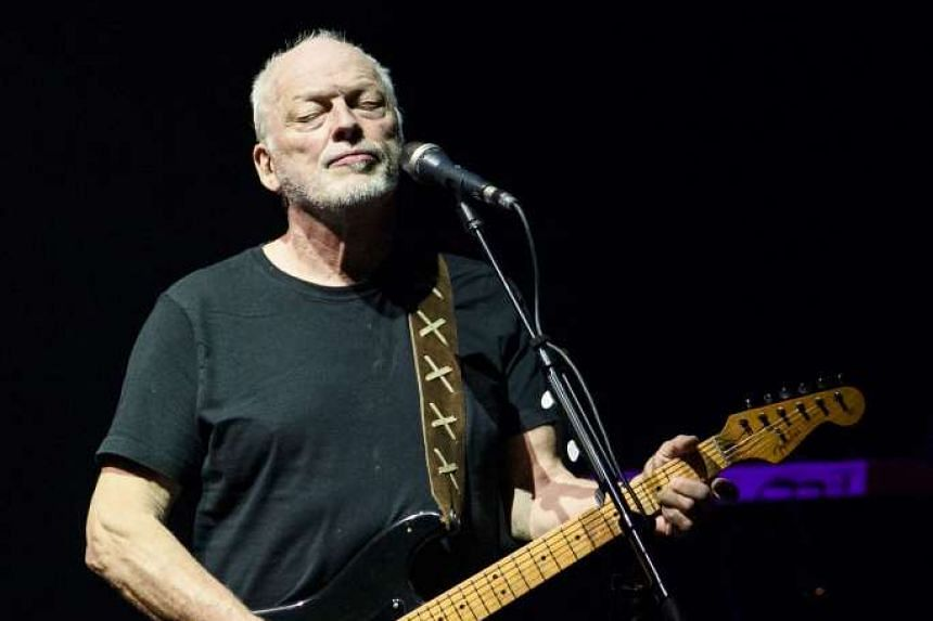 David Gilmour performs at Madison Square Garden in New York City in April 2016.