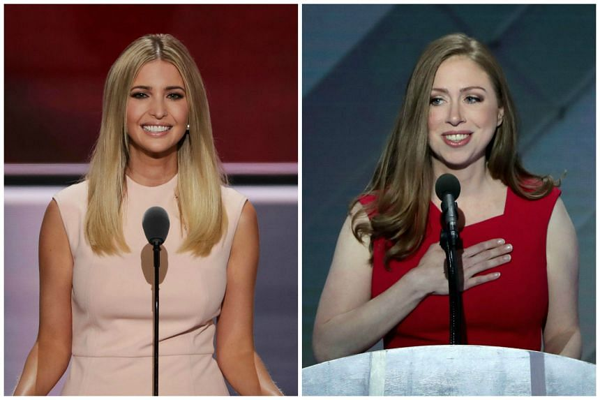 Presidential nominees' daughters Ivanka Trump (left) and Chelsea Clinton.