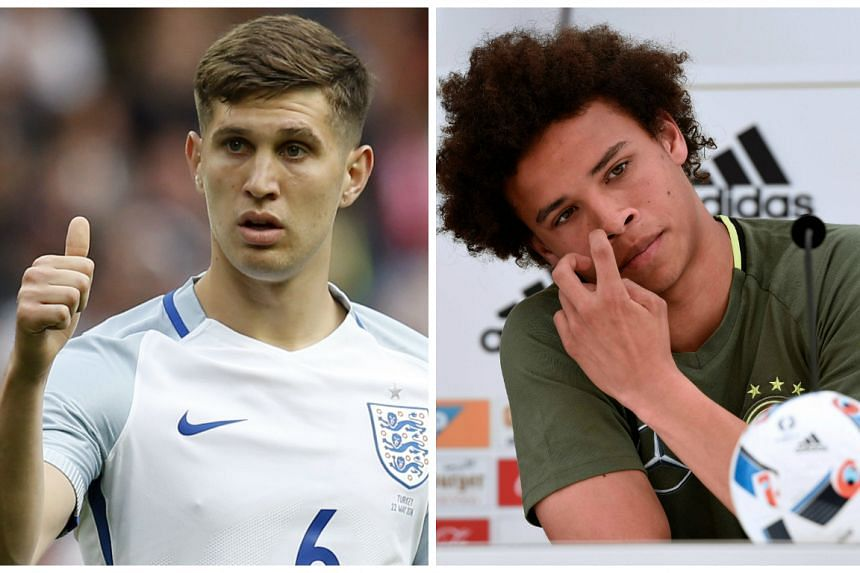 Guardiola is interested in signing Everton's John Stones (left) and Leroy Sane from Schalke 04.