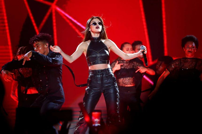 Selena Gomez belted out old radio hits as well as songs from her latest album, Revival.