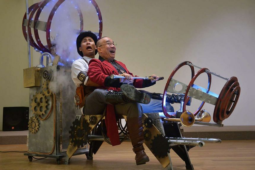 Actors Syaiful 'Ariffin (left) and Julius Foo will perform in House Of Curiosities.