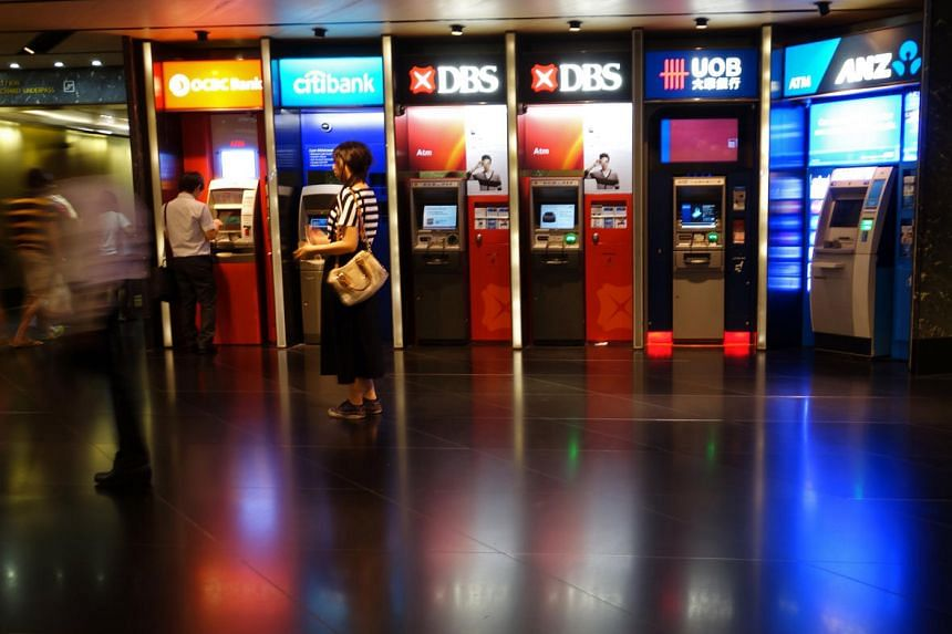 Automated Teller Machines (ATM) outside Tangs basement, along the Orchard Road underpass.