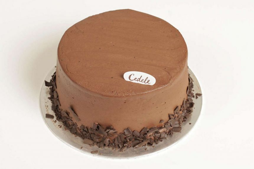 The chocolate fudge cake from Cedele.