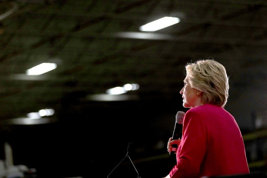 Democratic presidential nominee former Secretary of State Hillary Clinton speaks during a campaign rally July 29 in Hatfield, Pennsylvania.