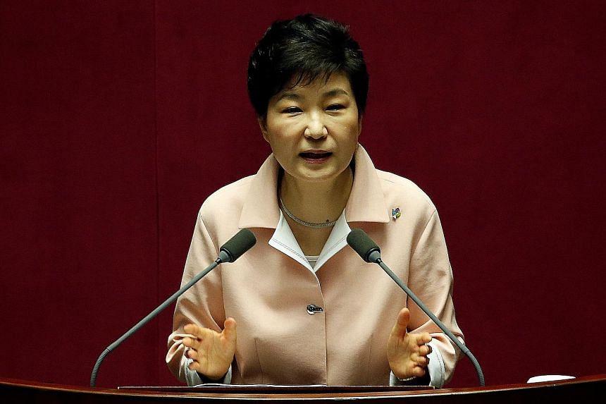 Ms Park came under fire for agreeing to deploy the Thaad anti-missile system from the United States, which angered the Chinese who see it as an attempt to put their military facilities within the reach of US radars.