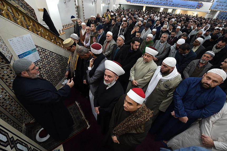 Muslims marking Hari Raya Aidilfitri at a Sydney mosque earlier this month. Some community leaders fear rhetoric from fringe political players will spark retaliatory acts against Muslim migrants.