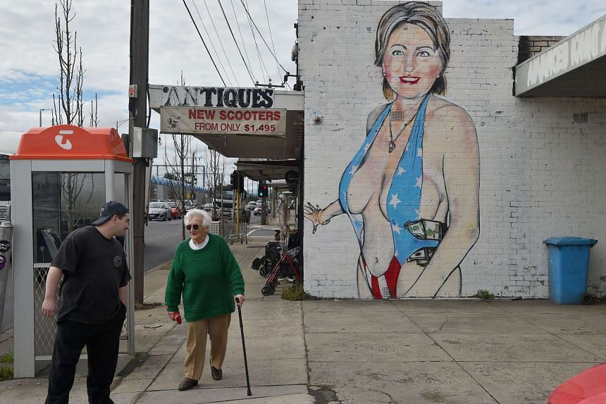 """The mural's creator has branded calls to remove it """"pathetic""""."""
