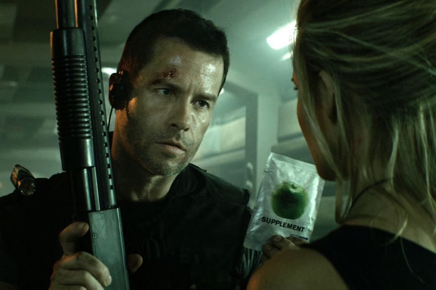 A cinema still from Lockout, starring Guy Pearce.
