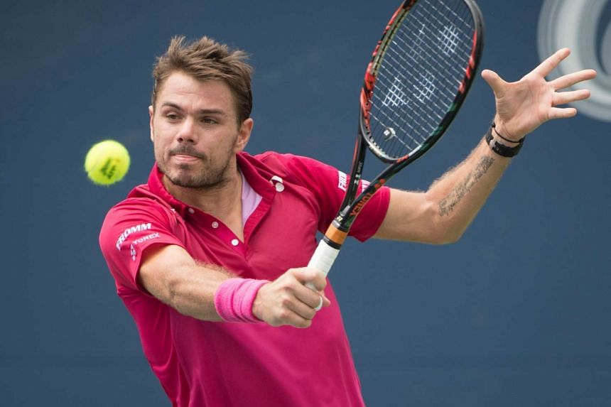 Stan Wawrinka competes against South Africa's Kevin Anderson during the quarter-final.