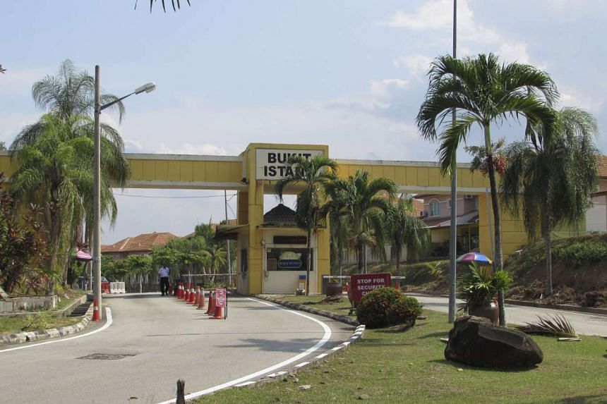 A woman was killed after being accidentally knocked down by her husband's car near the guard house to the Bukit Istana residential area (pictured) in Kuantan, Malayasia, on July 28, 2016.