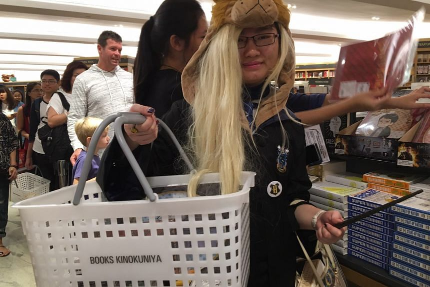 Tan Yi Min, 17, dressed as Luna Lovegood, her favourite character from the franchise.