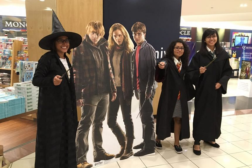 At the release of Harry Potter and The Cursed Child at Kinokuniya, Ngee Ann City on July 31.