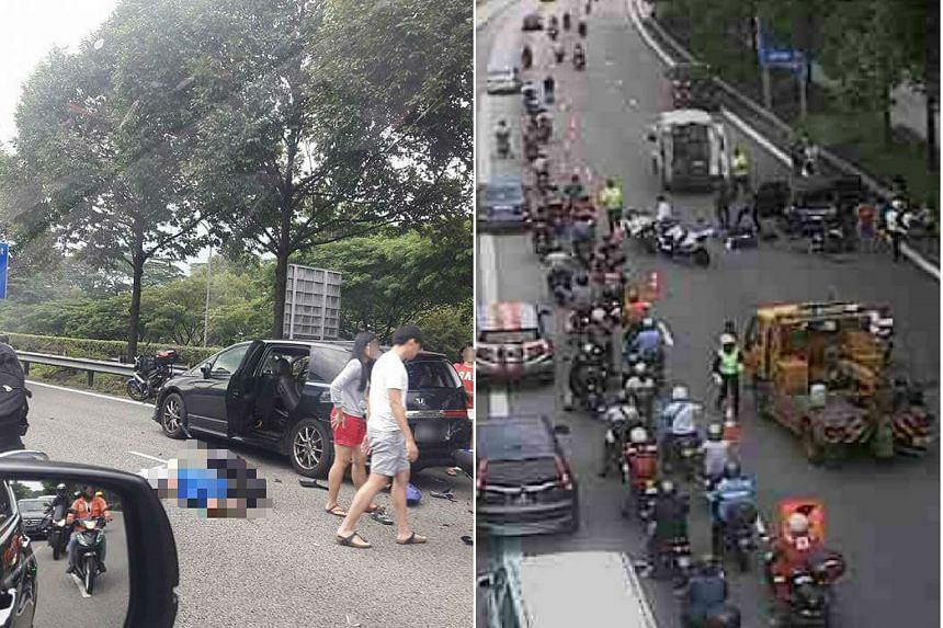 A motorcyclist was killed in an accident along the BKE on Sunday, July 31, 2016.