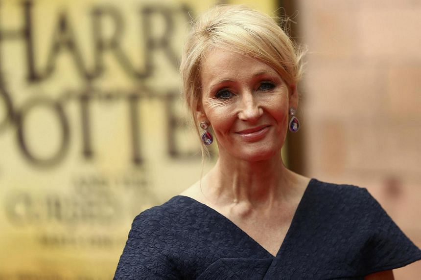Author J.K. Rowling poses for photographers at a gala performance of the play Harry Potter and the Cursed Child parts One and Two, in London, Britain on July 30.
