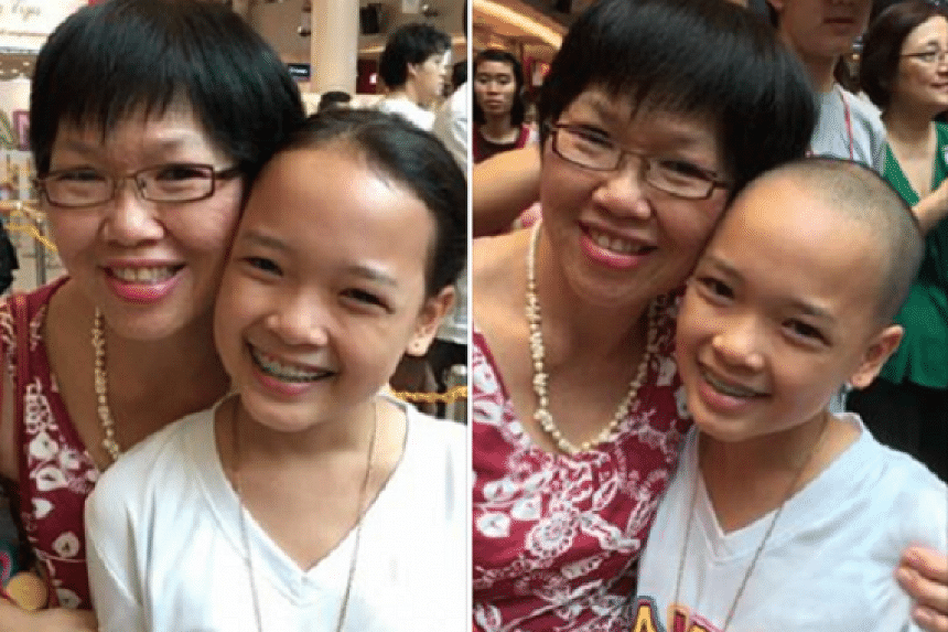 Zara Yong (right) has raised over $34,000 for the annual Hair for Hope event on July 30.