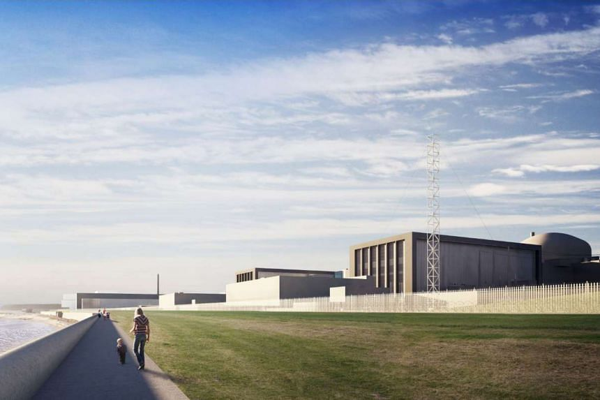 A computer-generated image of EDF Energy's proposed two nuclear reactors, Hinkely Point C, at their Hinkley Point power plant in south-west England.
