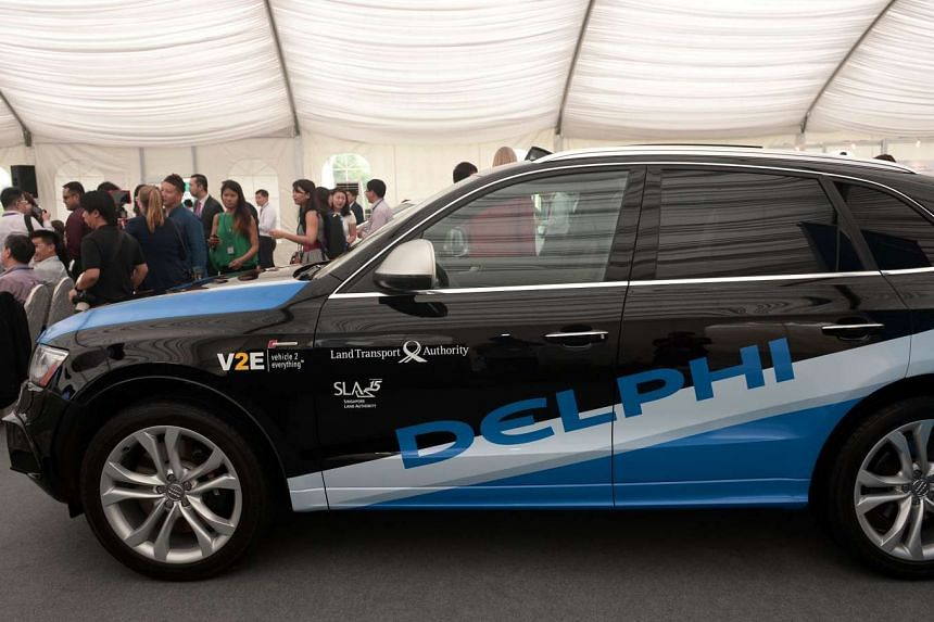 Delphi Automotive will launch a small test fleet of automated taxis in Singapore next year, the company said on Monday (Aug 1).