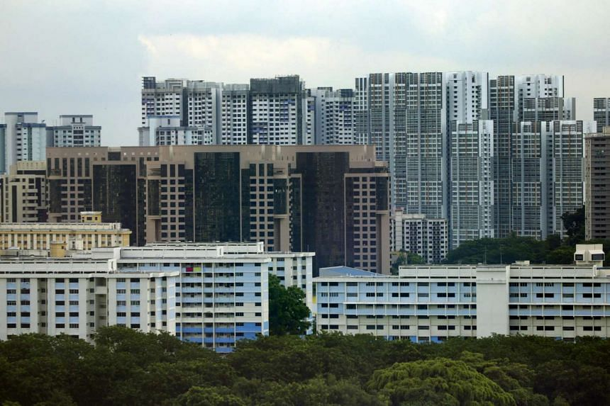 HDB flats seen in Dover and Clementi areas.