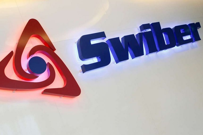 A Swiber logo at their office in Singapore.